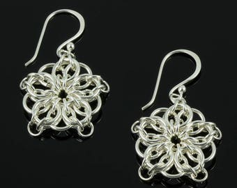 Handmade Celtic Star Chainmaille Earrings