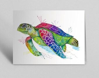 Turtle Greetings Card