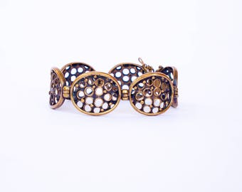 Modernist bronze bracelet Jorma Laine