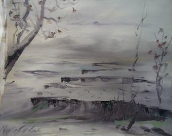 Landscape oil painting by Naci Caba