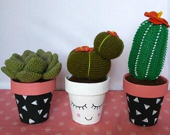 Crochet cactus, succulants,nursery decore, centerpiece, office decore home decore, unique gift