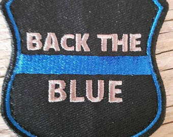 Back the blue patch BADGE
