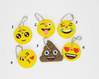 EMOJI KEY COVER - Six different emoji