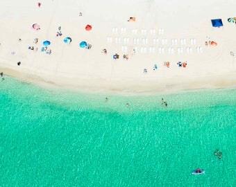 Miami: Aqua Bliss // Aerial Beach Photography // 3 Different Print Sizes