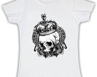 T shirt basic queen lady skull