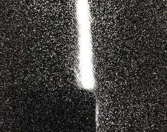 Vinyl Fabric - Black Shiny Sparkle Glitter Leather PVC - Upholstery By The Yard