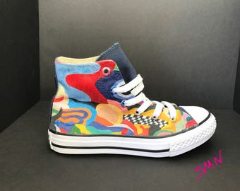 Colorful Custom Kids Converse