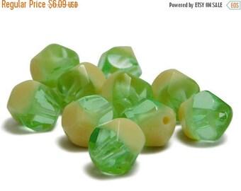 CLEARANCE Round Beads - Fire Polished Beads - Chunky Beads - Czech Glass Beads - Polycut - 10mm Beads - 10pcs (4377)