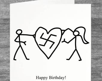 Peep Show | Birthday Card | Swastika Love | Custom message