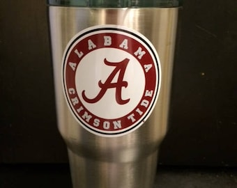 University of Alabama Crimson Tide crimson logo 20 oz &  30 oz tumbler Ozark Trail NEW Game Day Ready Roll Tide now in White