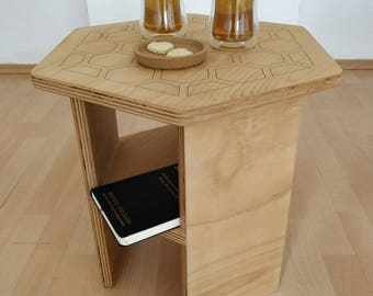 Cute Coffee Table With Honeycomb Pattern
