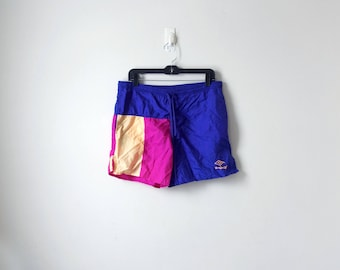80s Umbro Running Shorts - Pink 80s Shorts - 80s Sports - 80s Running Shorts - Vintage Umbro Shorts - 80s Clothing - 80s Athletic - Adult S