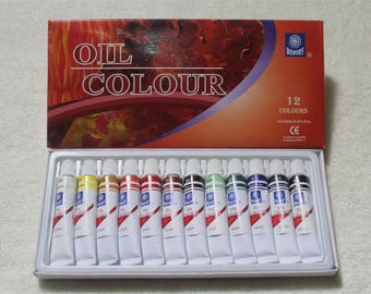 Professional Brand Oil Paint Canvas Pigment Art Supplies  Paints Each Tube Drawing 12 ML 12 Colors Set