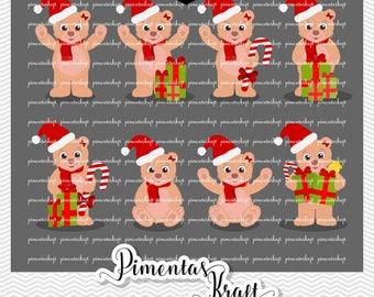 Digital Clipart - Christmas Bear,ursa,bear clipart,x-mas,christmas clipart,natal,tree,star clipart,window clipart,x-mas clipart,bear