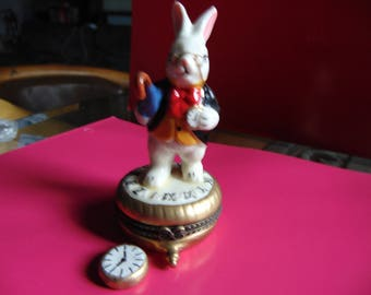 White Rabbit from Alice in Wonderland trinket box