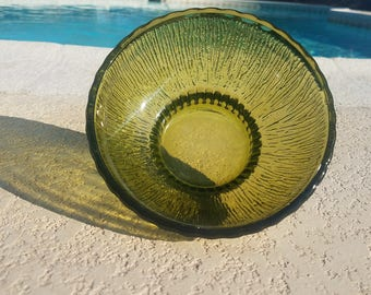 Vintage Avocado Green Bowl FTD 1975