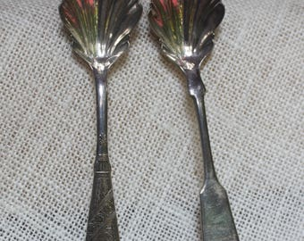Free Shipping Two 1847 Rogers Bros. A1 Sugar Spoons