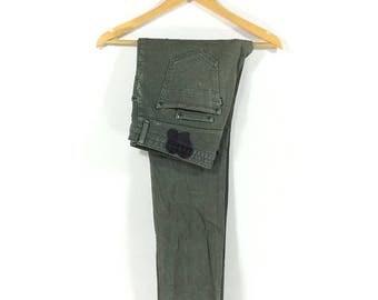 On sale 15% Vintage Number (n)ine Skinny Zipper Jeans Pant Jeans Punk Rare Style