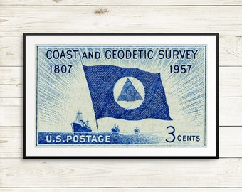 Coast and Geodetic, Geodetic Survey, contour maps, Survey of the Coast, National Oceanic and Atmospheric Agency, NOAA, US postage, USA Stamp