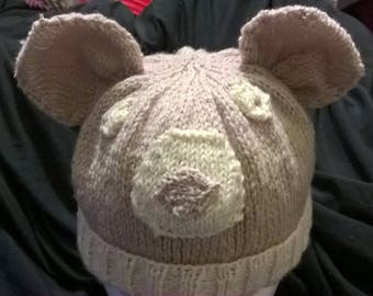 Polar Bear hat  - ADULT one size fits all