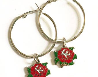 Garden Red Rose Hoops