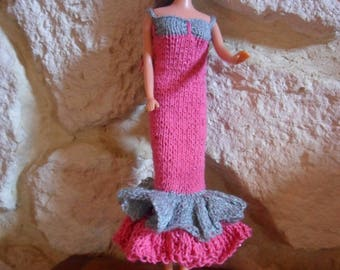 long dress with Ruffles for barbie