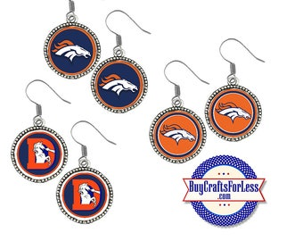 DENVER Football EARRINGS, CHooSE Logo  - Super CUTE!  +FReE SHiPPiNG & Discounts*