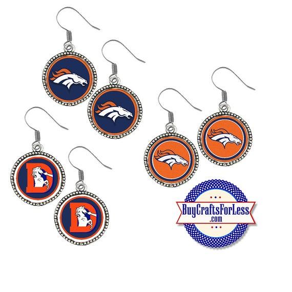 DENVER Football EARRINGS, CHooSE Logo  - Super CUTE!  +FReE SHiPPiNG & Discounts*