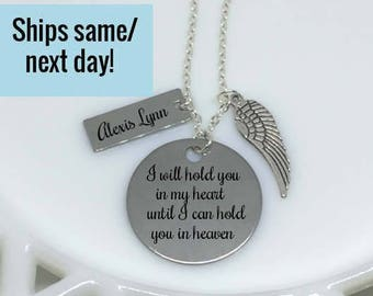 Memorial Necklace, Miscarriage Necklace, Mommy of an Angel, Memorial Jewelry, Miscarriage Jewelry, Memorial Pendant, Loss of a Child