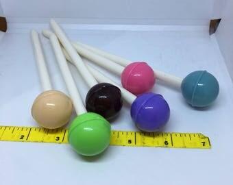 Kawaii Lollipop fine tip pen black ink for Stationary Storage Organizer Bag School Office Supply Planner pen pals