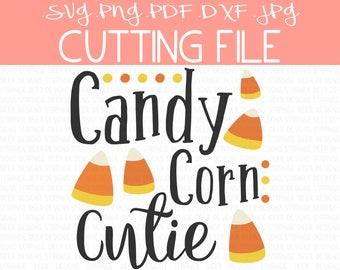 Halloween Cutting File, Candy Corn SVG, Candy Corn Cutie, Cricut Files, Silhouette Files, pdf, png, jpg, dxf, Halloween Clip Art