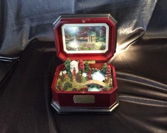 "Thomas Kinkade ""Garden of Prayer"" music box"