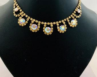 Vintage Auroa Borealis Necklace
