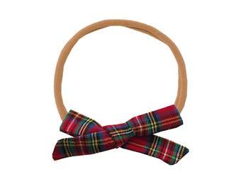 Schoolgirl Bow or Pigtail Set /// Tartan