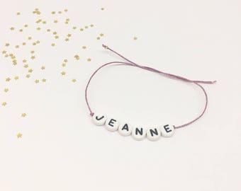 Customizable link bracelet iridescent tie
