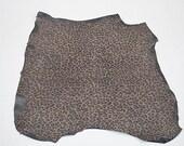 Peau de cuir d'agneau velours léopard