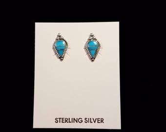 Turquoise Stud Earrings by Bernadette Boone