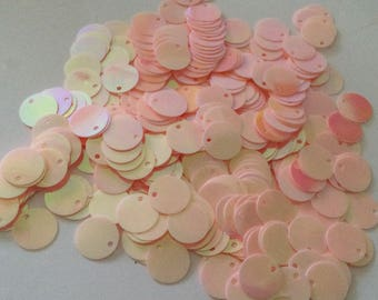 Sequin charm 12 mm acrylic silver color in a set of 5 gr