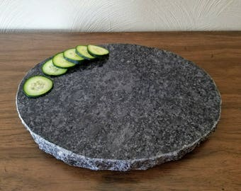 cutting board steel gray oval