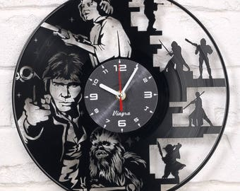 STAR WARS Vinyl Wall Clock Record Wall Clock Star Wars Wall Decor Star Wars Vinyl Art Home Decor for Living Room Star Wars Gift for Him