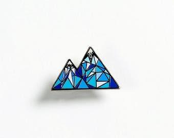 Geometric Mountain – Enamel Pin for your Life