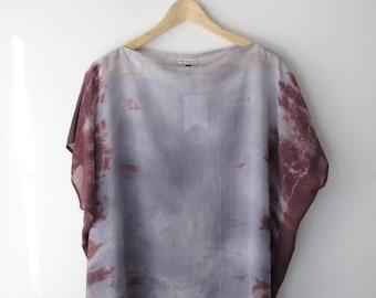 Silk Chiffon Shibori Top