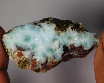 Larimar Rough cabochons smooth polished Natural shape handmade Gemstone 100%Natural Loose stone 139Cts.