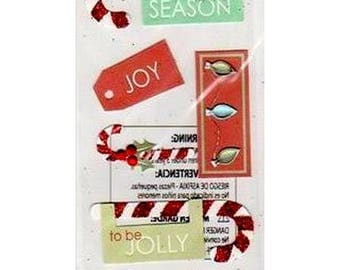 3D Christmas Jolee's creative cardmaking scrapbooking stickers