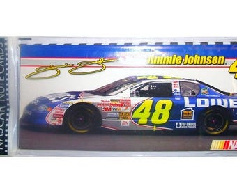 NASCAR 6 matching cards + envelopes Jimmie Johnson 48