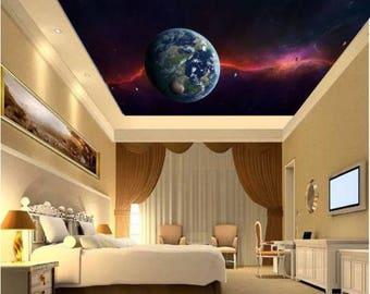 Galaxy wall mural, ceiling stars, nebula ceiling, ceiling galaxy, STAR wallpaper, space star wall mural, nebula wallpaper, ceiling