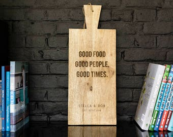 Personalised Serving Board, Wedding gift, Anniversary gift, Birthday gift, Housewarming gift, Engraved wooden kitchen Board, Cutting board