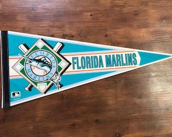 Vintage Florida Marlins Pennant 1990's MLB memorabilia