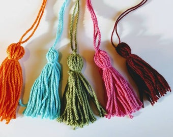 Yarn tassel set Free Shipping purse ornaments clothing jewelry accents yarn accents tassel garlands baby shower decorations