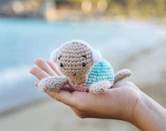 Turtle in Headphones, Knitted Turtle, Crochet Turtle, Crochet Toy, Amigurumi Turtle